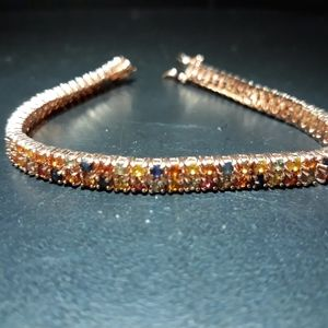 Natural Multi Sapphire Bracelet